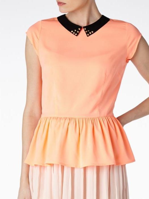 Блузка з басками - модна деталь гардероба