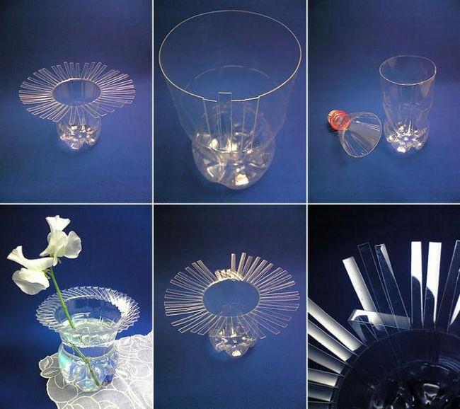 Заощаджуємо в дрібницях, або ваза з пластикової пляшки своїми руками