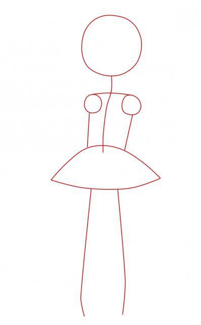 Як намалювати дівчинку в сукні в стилі аніме