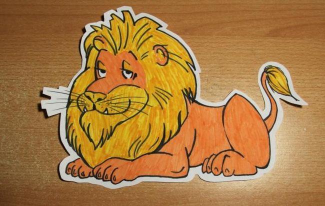 Як намалювати лева з мультфільму (для початківців)