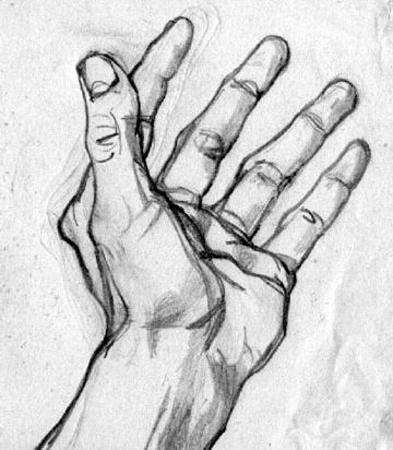 Як намалювати руку правильно