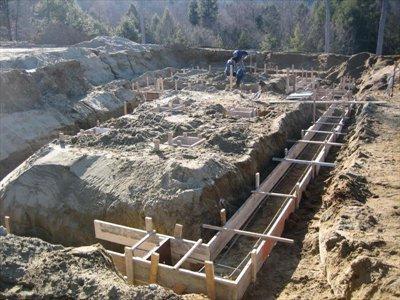 Як розрахувати фундамент під зруб або для гаража?
