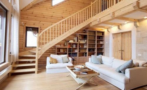 Як створюються інтер`єри дерев`яних будинків