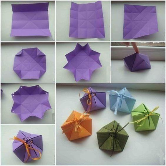 орігамі коробка з паперу