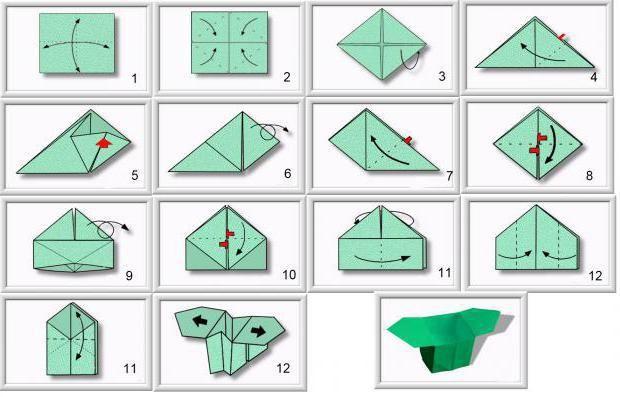 як зробити коробку орігамі