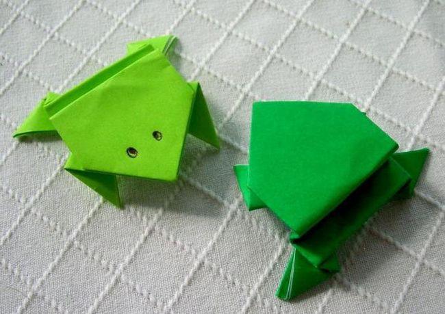 як зробити жабу з паперу своїми руками