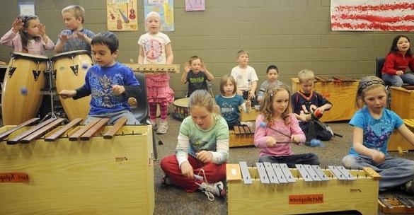 Музичні заняття в дитячому саду - гармонійно розвивається особистість