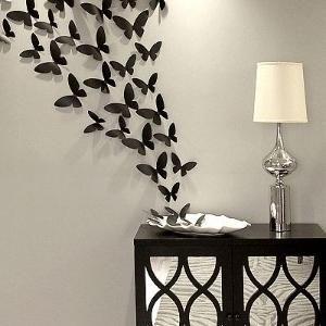 Прикраса стін метеликами