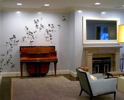 Декор стін своїми руками метелики