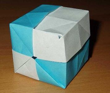 коробочка з паперу схема