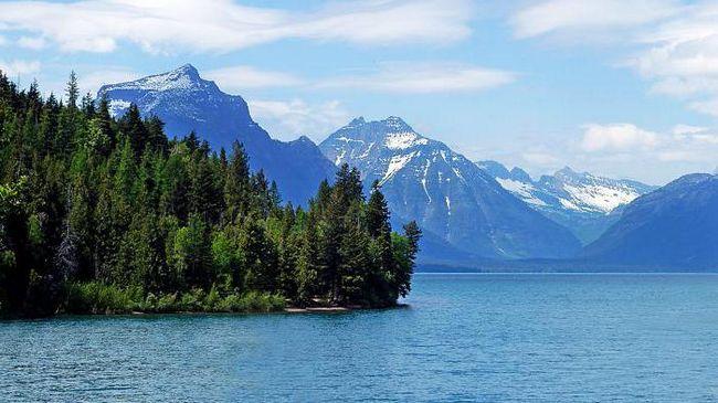 озеро флатхед штат Монтана сша