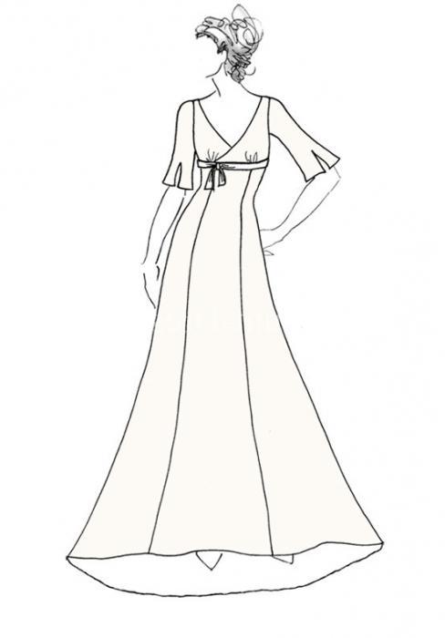 Форма сукні в грецькому стилі