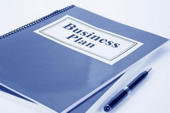 бізнес план визначення