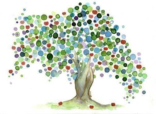 як малювати дерево гуашшю