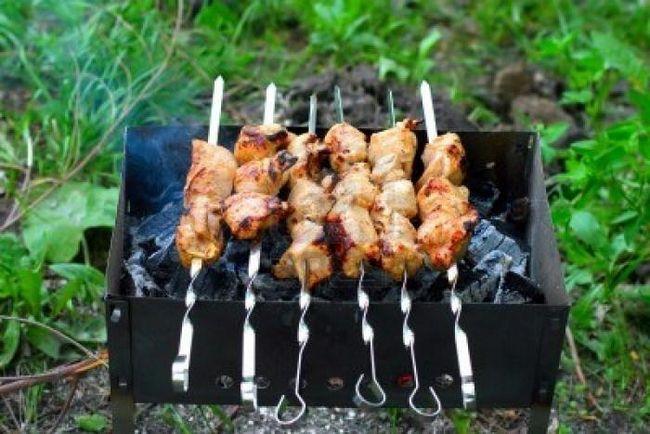 Шашлики на природі - ідеальне блюдо для пікніка