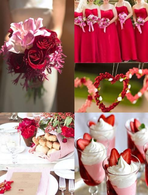 червоний стиль весілля