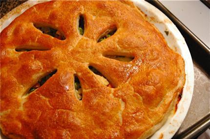 рецепт курника з листкового тіста
