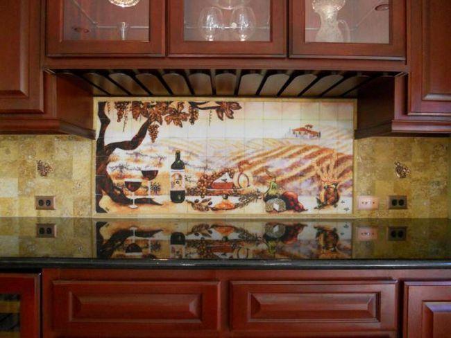 керамічне панно для кухні