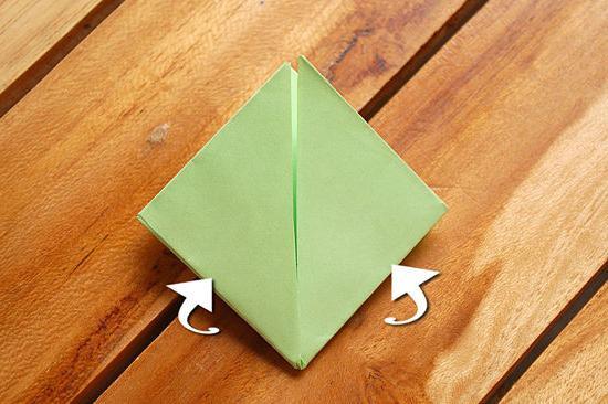 загинаємо кути трикутника